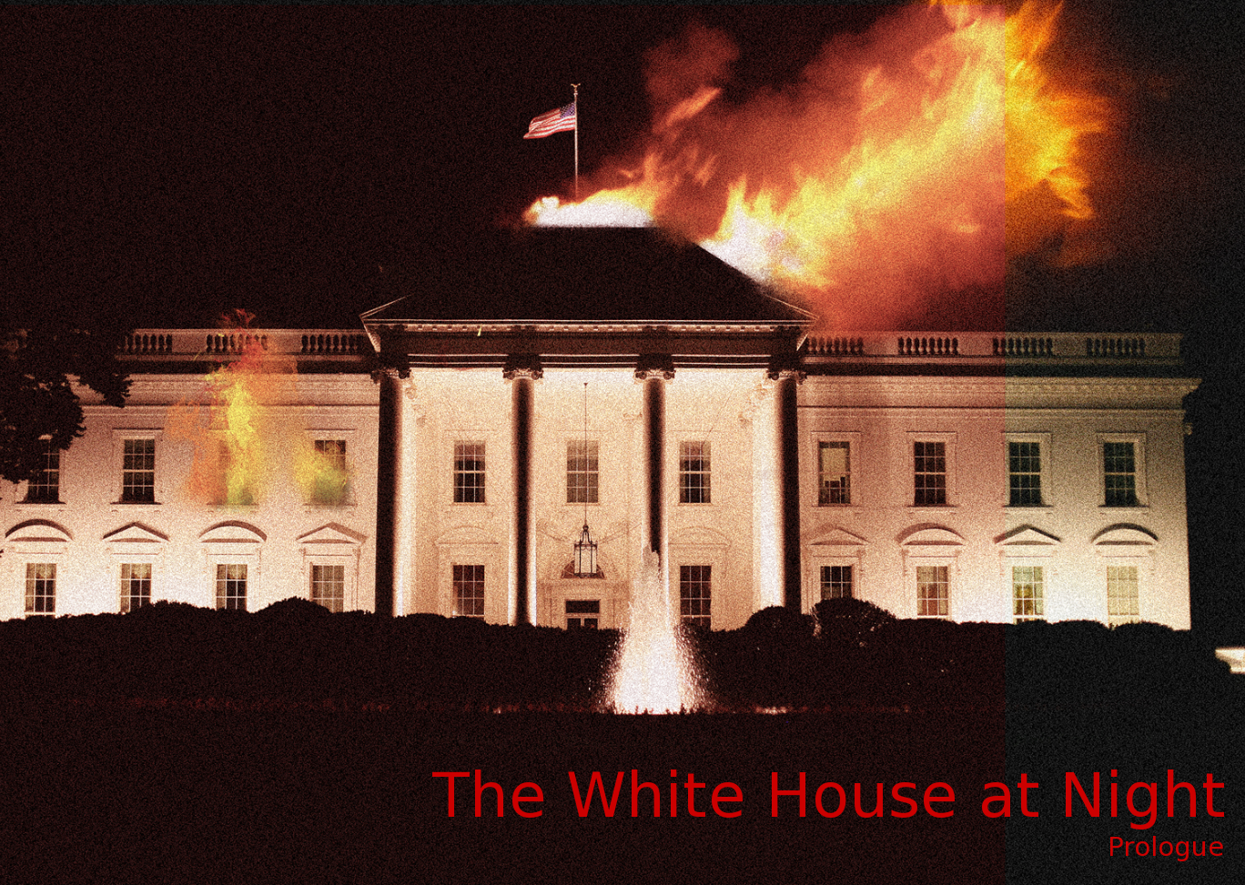 Image result for white house on fire images